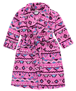 "Sweet n Sassy Little Girls' ""Diamond Tribe"" Plush Robe (Sizes 4 – 6X) - CookiesKids.com"