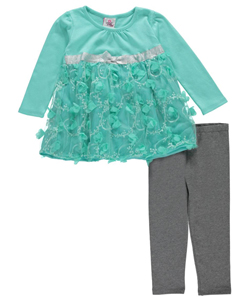 "Real Love Little Girls' Toddler ""Blossoms on Branches"" 2-Piece Outfit (Sizes 2T – 4T) - CookiesKids.com"