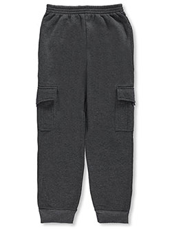 "Quad Seven Big Boys' ""Fleece Cargo"" Joggers (Sizes 8 – 20) - CookiesKids.com"