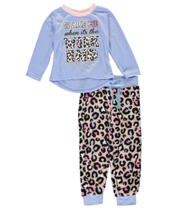 "Sweet n Sassy Little Girls' ""Ready for the Weekend"" 2-Piece Pajamas (Sizes 4 – 6X) - CookiesKids.com"