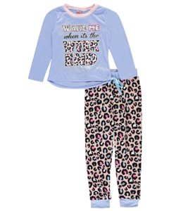 "Sweet n Sassy Big Girls' ""Ready for the Weekend"" 2-Piece Pajamas (Sizes 7 – 16) - CookiesKids.com"