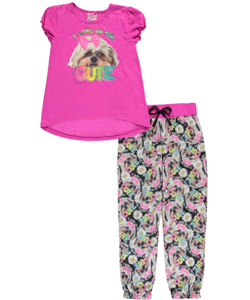 "Sweet n Sassy Little Girls' ""Morning Beauty"" 2-Piece Pajamas (Sizes 4 – 6X) - CookiesKids.com"