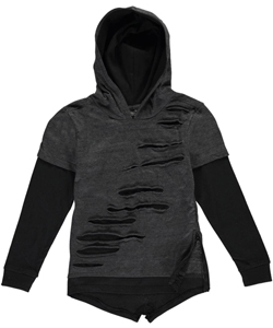 "Quad Seven Little Boys' ""Front Slash"" Slider Hoodie (Sizes 4 – 7) - CookiesKids.com"