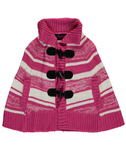 "Dollhouse Little Girls' ""Toggled Knit"" Cape (Sizes 4 – 6X) - CookiesKids.com"