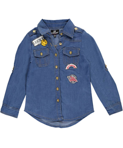 "Dollhouse Little Girls' ""Free to Be Me"" Button-Down (Sizes 4 – 6X) - CookiesKids.com"