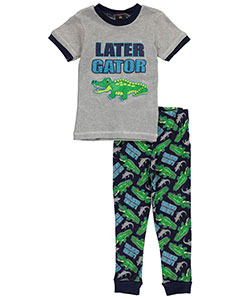"Mac Henry Little Boys' ""Later Gator"" 2-Piece Pajamas (Sizes 4 – 7) - CookiesKids.com"