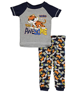 "Mac Henry Baby Boys' ""Woke Up Awesome"" 2-Piece Pajamas - CookiesKids.com"