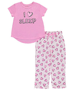 "Delia's Little Girls' ""Sleeping Hearts"" 2-Piece Pajamas (Sizes 4 – 6X) - CookiesKids.com"