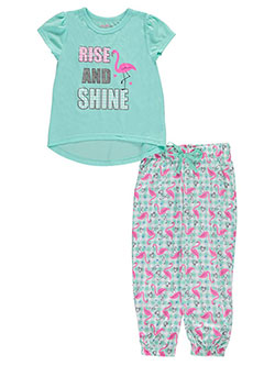 "Delia's Little Girls' ""Shining Flamingo"" 2-Piece Pajamas (Sizes 4 – 6X) - CookiesKids.com"