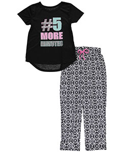 "Delia's Big Girls' ""5 More Minutes"" 2-Piece Pajamas (Sizes 7 – 16) - CookiesKids.com"