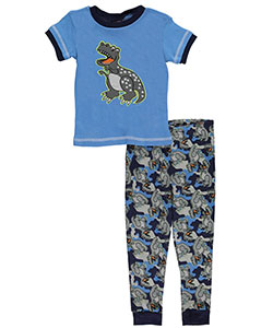 "Mac Henry Little Boys' Toddler ""Spotted T-Rex"" 2-Piece Pajamas (Sizes 2T – 4T) - CookiesKids.com"