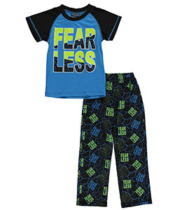 "Mac Henry Little Boys' ""Fear Less"" 2-Piece Pajamas (Sizes 4 – 7) - CookiesKids.com"