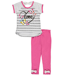 "Real Love Little Girls' Toddler ""Butterfly Love"" 2-Piece Outfit (Sizes 2T – 4T) - CookiesKids.com"