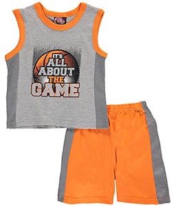"Mad Game Little Boys' Toddler ""All about the Game"" 2-Piece Outfit (Sizes 2T – 4T) - CookiesKids.com"