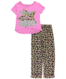 "Sweet n Sassy Big Girls' ""Just a Dream"" 2-Piece Pajamas (Sizes 7 – 16) - CookiesKids.com"