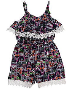 "Real Love Little Girls' Toddler ""Aztec Wanderer"" Romper (Sizes 2T – 4T) - CookiesKids.com"