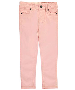 "Real Love Little Girls' Toddler ""Button-Flap Twill"" Pants (Sizes 2T – 4T) - CookiesKids.com"