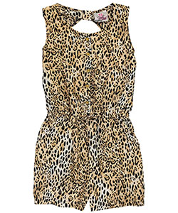 "Real Love Big Girls' ""Exotic Leopard"" Romper (Sizes 7 – 16) - CookiesKids.com"