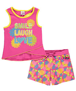 "Real Love Big Girls' ""Smile, Laugh, & Love"" 2-Piece Outfit (Sizes 7 – 16) - CookiesKids.com"
