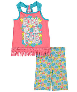 "Real Love Big Girls' ""Born to Be Fab"" 2-Piece Outfit (Sizes 7 – 16) - CookiesKids.com"