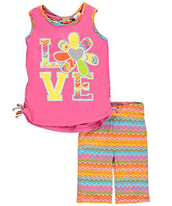 "Real Love Big Girls' ""Love Flower"" 2-Piece Outfit (Sizes 7 – 16) - CookiesKids.com"