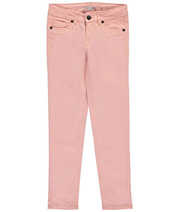 "Real Love Big Girls' ""Button-Flap Twill"" Pants (Sizes 7 – 16) - CookiesKids.com"