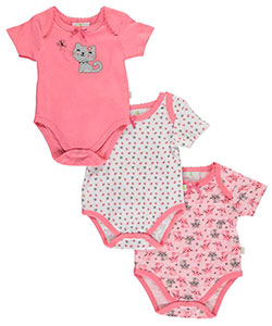 "Duck Duck Goose Baby Girls' ""Butterfly Kisses"" 3-Pack Bodysuits - CookiesKids.com"