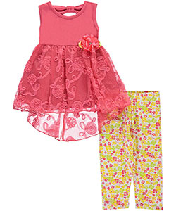 "Real Love Little Girls' Toddler ""Tulle Twirl"" 2-Piece Outfit (Sizes 2T – 4T) - CookiesKids.com"
