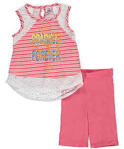 "Real Love Big Girls' ""Sparkle Forever"" 2-Piece Outfit (Sizes 7 – 16) - CookiesKids.com"