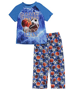 "Quad Seven Little Boys' ""Game On!"" 2-Piece Pajamas (Sizes 4 – 7) - CookiesKids.com"