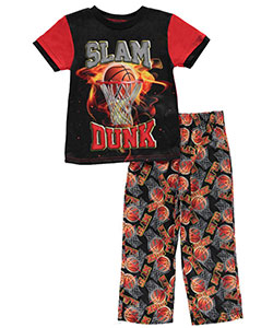 "Quad Seven Little Boys' ""Slam Dunk"" 2-Piece Pajamas (Sizes 4 – 7) - CookiesKids.com"