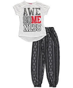 "Sweet N Sassy Little Girls' ""Awesomeness"" 2-Piece Pajamas (Sizes 4 – 6X) - CookiesKids.com"