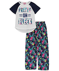 "Sweet N Sassy Little Girls' ""Pretty on Fleek"" 2-Piece Pajamas (Sizes 4 – 6X) - CookiesKids.com"