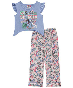 "Sweet N Sassy Little Girls' ""Fashion Blogger"" 2-Piece Pajamas (Sizes 4 – 6X) - CookiesKids.com"