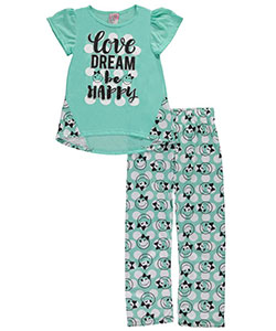 "Sweet N Sassy Big Girls' ""Be Happy"" 2-Piece Pajamas (Sizes 7 – 16) - CookiesKids.com"