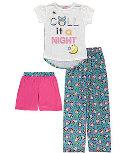 "Delia's Big Girls' ""Night Owl"" 3-Piece Pajamas (Sizes 7 – 16) - CookiesKids.com"