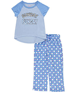 "Delia's Little Girls' ""Sunday Funday"" 2-Piece Pajamas (Sizes 4 – 6X) - CookiesKids.com"