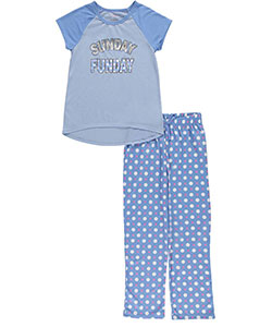 "Delia's Big Girls' ""Sunday Funday"" 2-Piece Pajamas (Sizes 7 – 16) - CookiesKids.com"