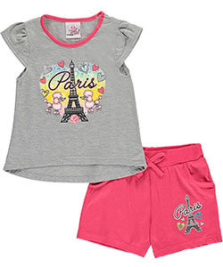 "Real Love Little Girls'Toddler ""Love, Paris"" 2-Piece Outfit (Sizes 2T – 4T) - CookiesKids.com"