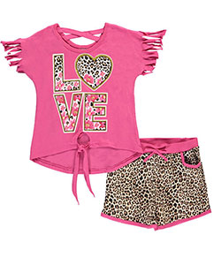 "Real Love Big Girls' ""Floral Fun"" 2-Piece Outfit (Sizes 7 – 16) - CookiesKids.com"