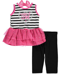 "Real Love Baby Girls' ""Born to Love"" 2-Piece Outfit - CookiesKids.com"