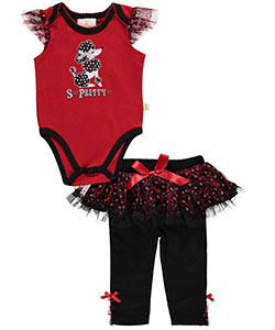 "Duck Duck Goose Baby Girls' ""So Pretty"" 2-Piece Outfit - CookiesKids.com"