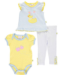 "Duck Duck Goose Baby Girls' ""Ruffle Duckie"" 3-Piece Set - CookiesKids.com"