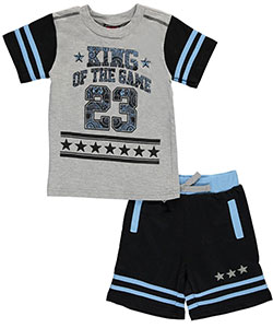 "Quad Seven Baby Boys' ""King of the Game"" 2-Piece Outfit - CookiesKids.com"