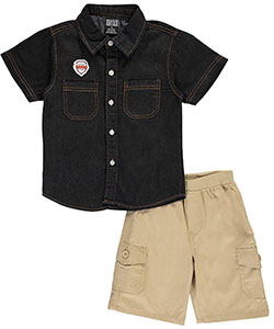 "Quad Seven Little Boys' Toddler ""Factory Team"" 2-Piece Outfit (Sizes 2T – 4T) - CookiesKids.com"