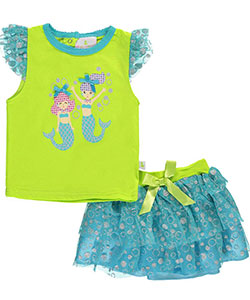"Duck Duck Goose Baby Girls' ""Mermaid Dance"" 2-Piece Outfit - CookiesKids.com"