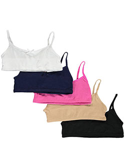 "Sweet n Sassy ""Bowed Comfort"" 5-Pack Training Bras (Sizes 30"" – 34"") - CookiesKids.com"