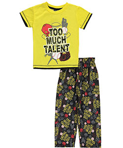 "Mac Henry Little Boys' ""Too Much Talent"" 2-Piece Pajamas (Sizes 4 – 7) - CookiesKids.com"
