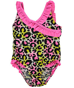 "2 B Real Little Girls' Toddler ""Wild Ruffles"" 1-Piece Swimsuit (Sizes 2T – 4T) - CookiesKids.com"