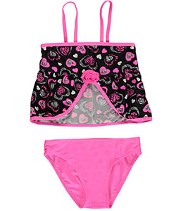 "2 B Real Little Girls' Toddler ""Free Hearts"" 2-Piece Tankini (Sizes 2T – 4T) - CookiesKids.com"